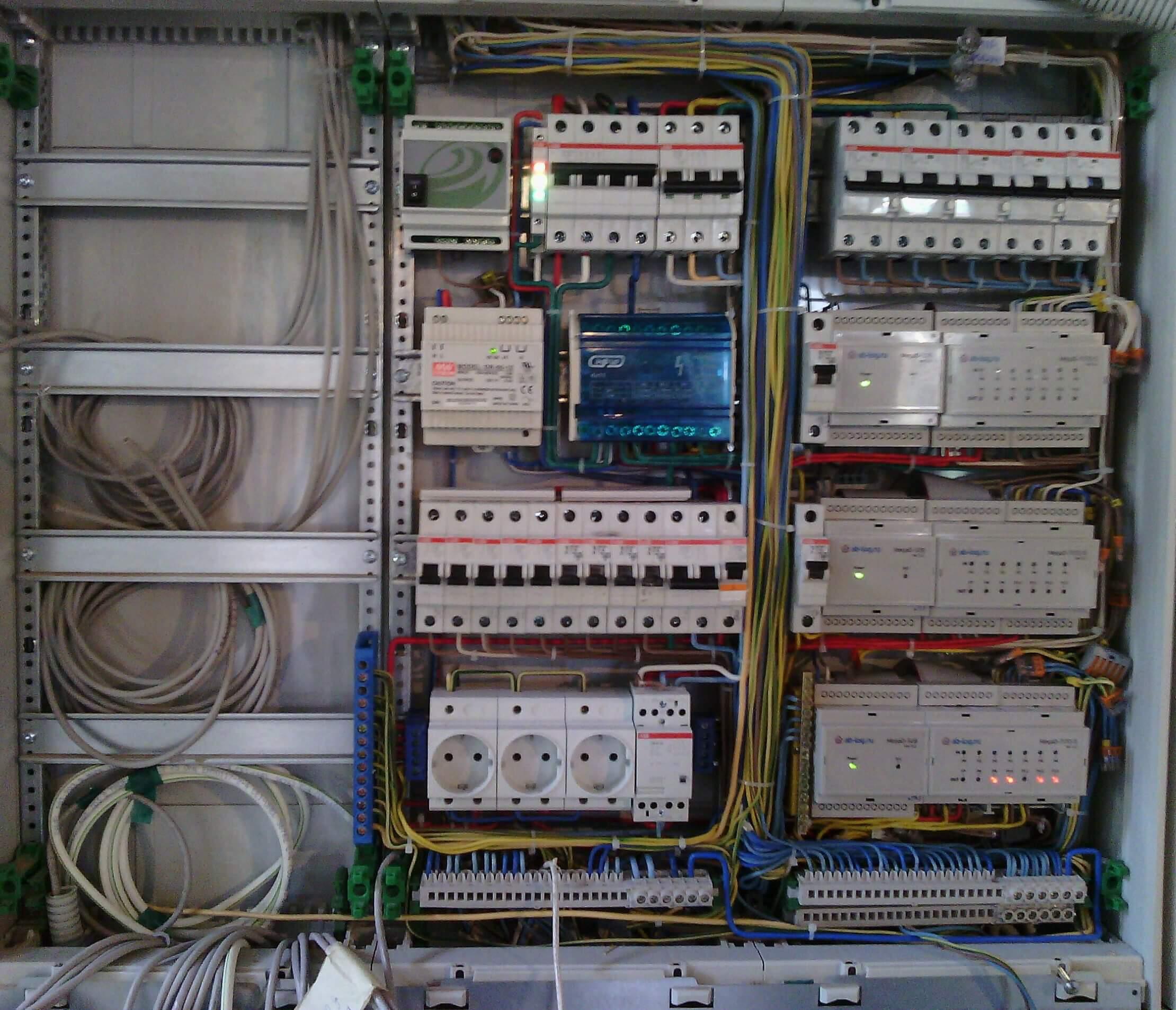 схема электромонтажа здание